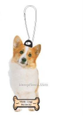 Welsh Corgi Dog Zipper Pull