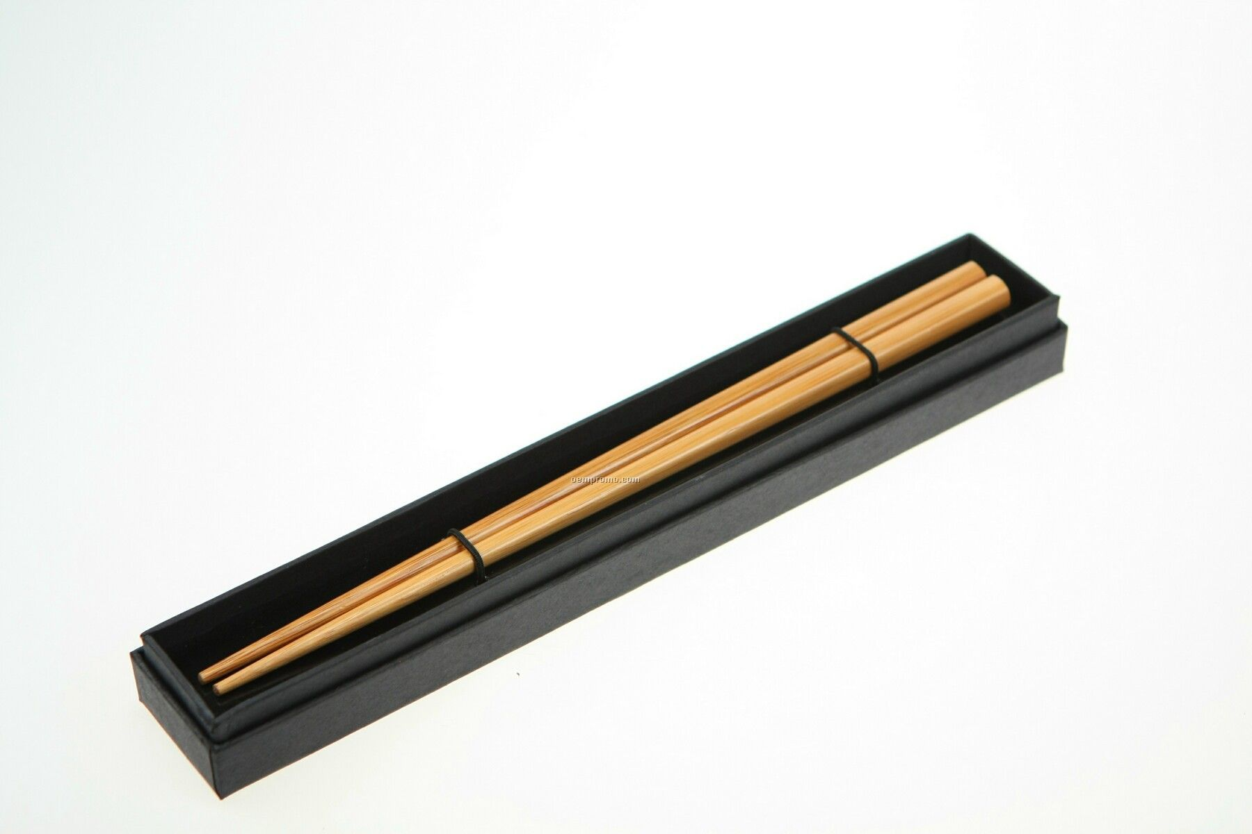 Bamboo Chopsticks In Black Cardboard Box