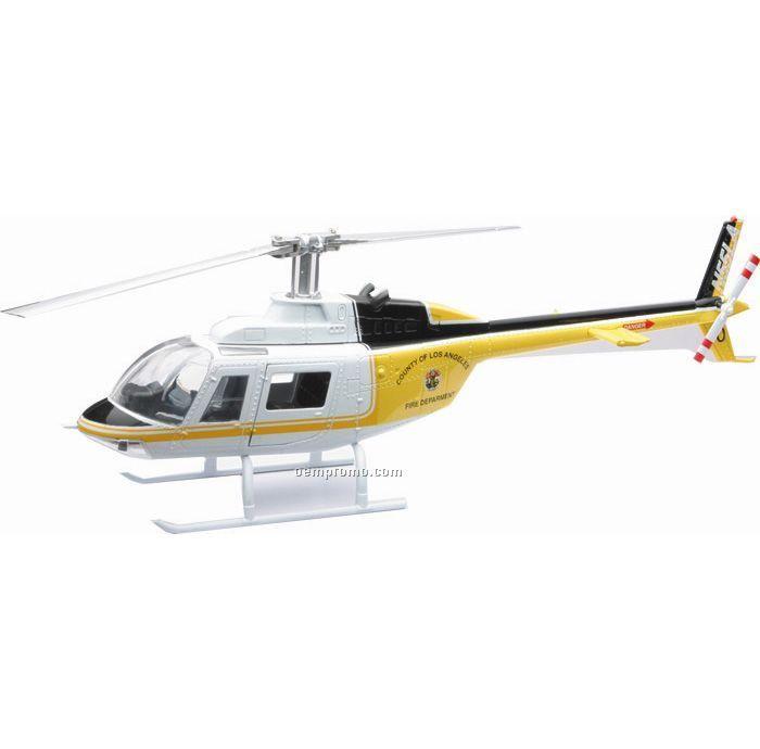 Bel 206 Jetranger Lacofd Die Cast Helicopter 1:87 Scale