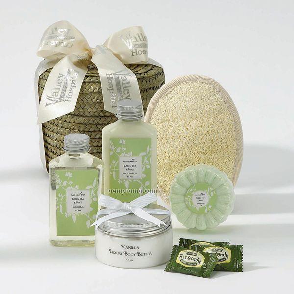 Green Tea Spa Basket