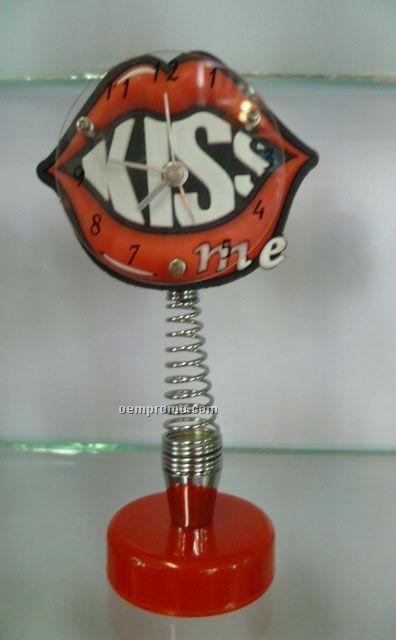 Hot Kiss Shape Clock