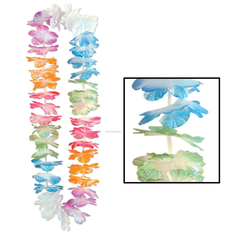 Silk 'n Petals Iridescent Lei