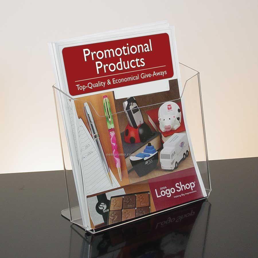 Single Pocket Clear Acrylic Literature Holder - Countertop