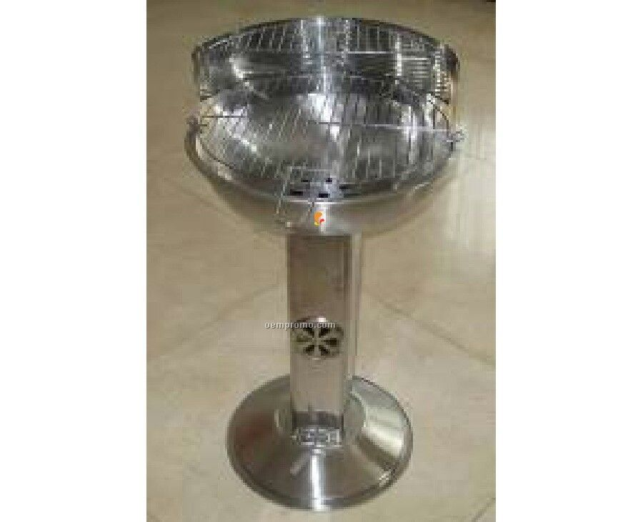 Stainless Steel Pedestal Style Barbecue Grill