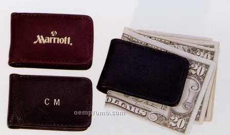 """1-5/8""""X2-3/4""""X1/2"""" Leather Magnetic Money Clip"""