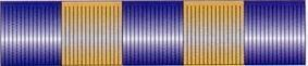 60' Blue & Gold Metallic Hula Streamer