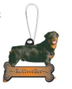 Rottweiler Dog Zipper Pull