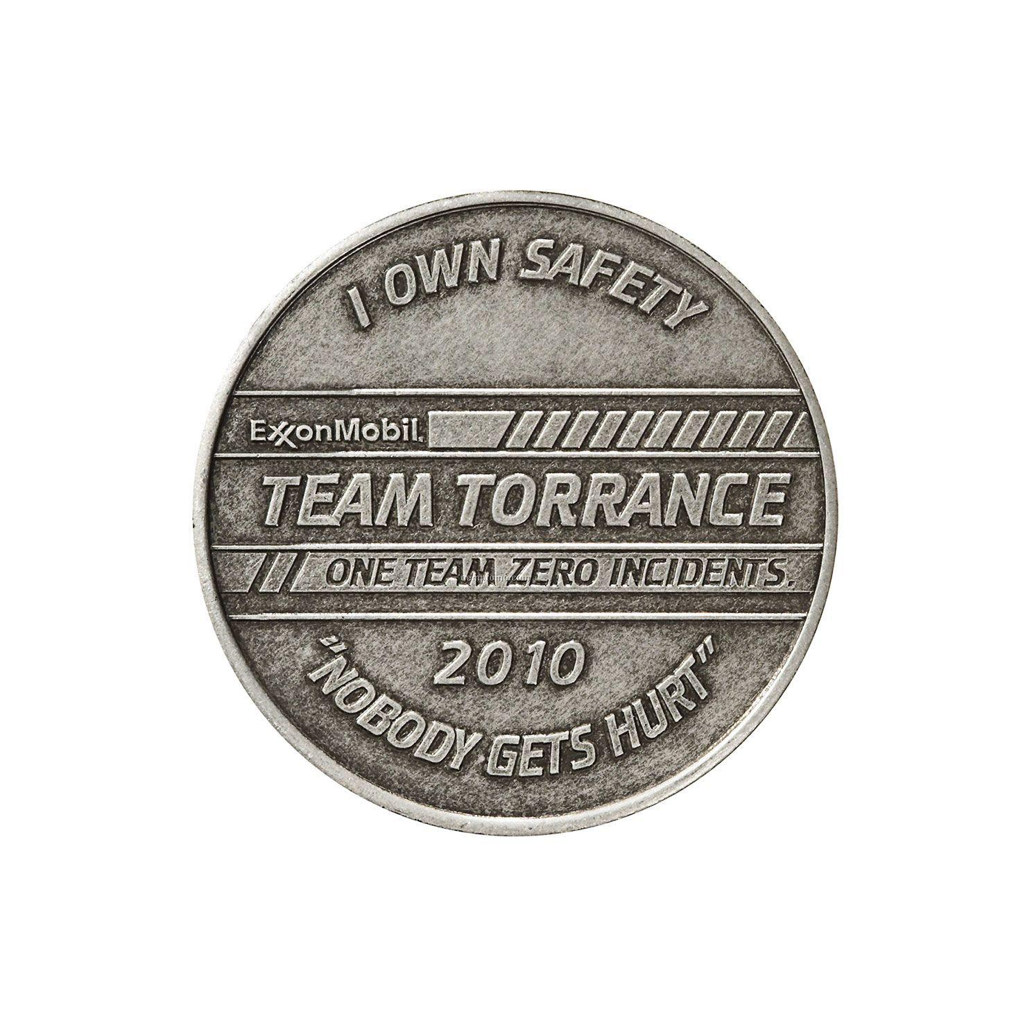 """Antique Silver Coin - Medallion (1"""")"""