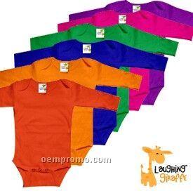 Infant Long Sleeve Cotton Onesie ( Bright Colors)