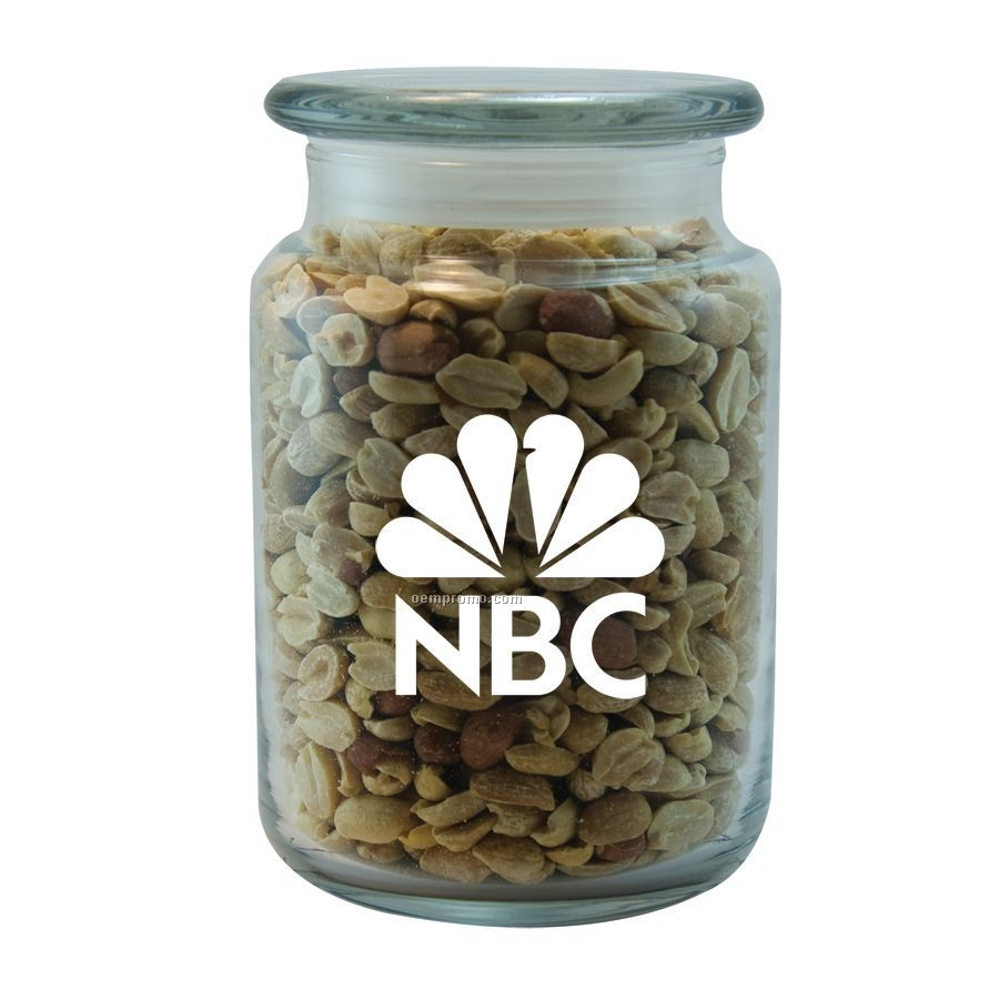 Large Apothecary Jar With Peanuts