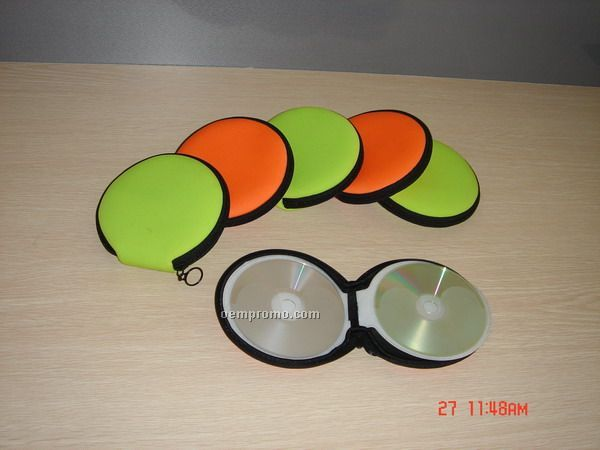 Round Neoprene CD Holder