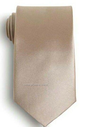 Wolfmark Solid Series Champagne Beige Polyester Satin Tie