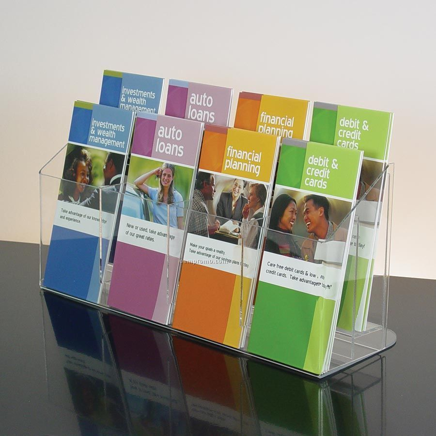 8 Pocket Clear Acrylic Brochure Holder Countertop China