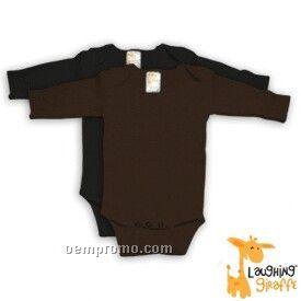 Infant Long Sleeve Cotton Onesie ( Dark Colors)