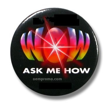 "Light Up Button W/ Red Or Orange LED (1.75"" Diameter)"