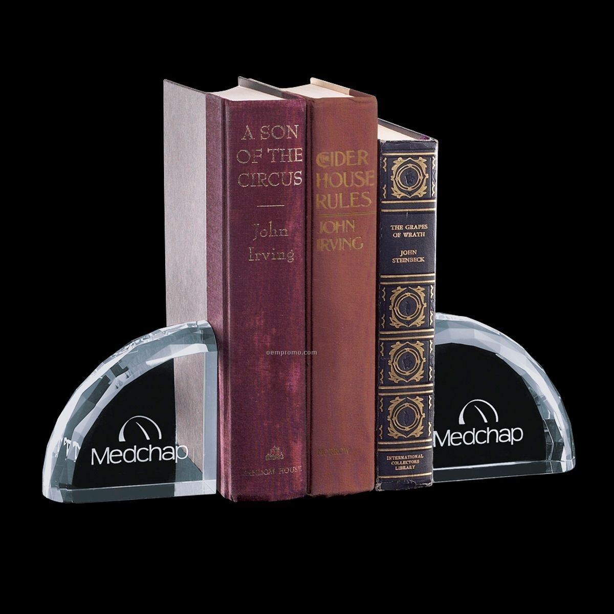 Ridgemount Optical Crystal Bookend Set