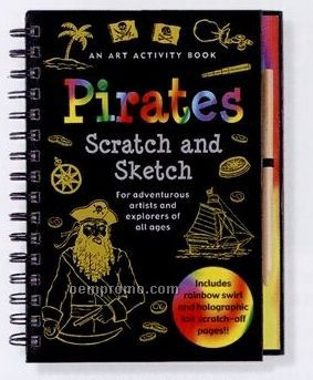 Scratch And Sketch Activity Book - Pirates