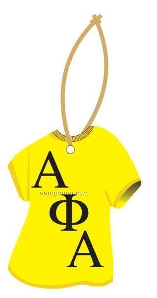 Alpha Phi Alpha Fraternity T-shirt Ornament W/ Mirror Back (12 Square Inch)