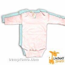 Infant Long Sleeve Cotton Onesie ( Pastel Colors)