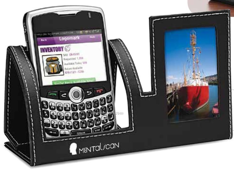 "Mobile Phone Holder W/ 2""X3"" Photo Frame"