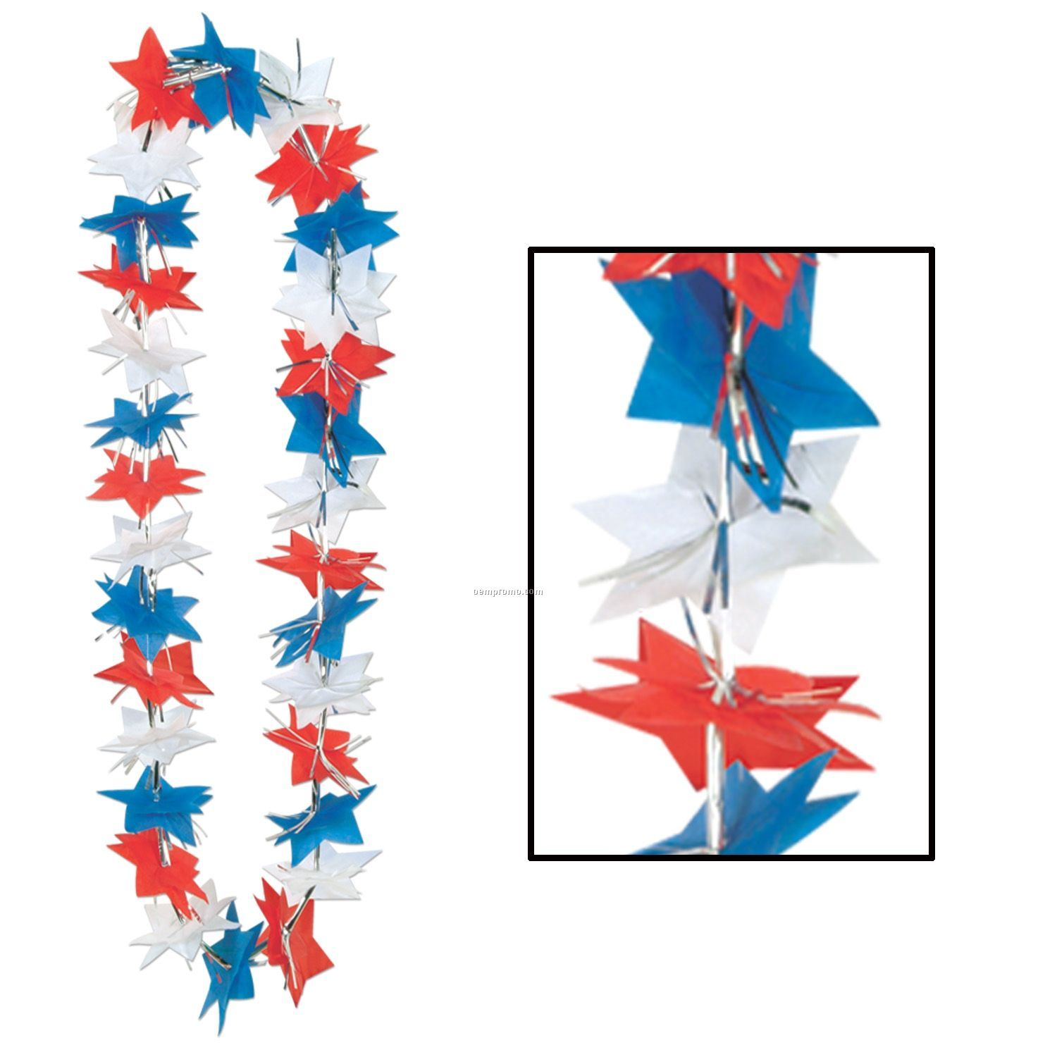 Patriotic Star Leis