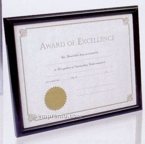 Polystyrene Document Frame W/ Glossy Black Finish