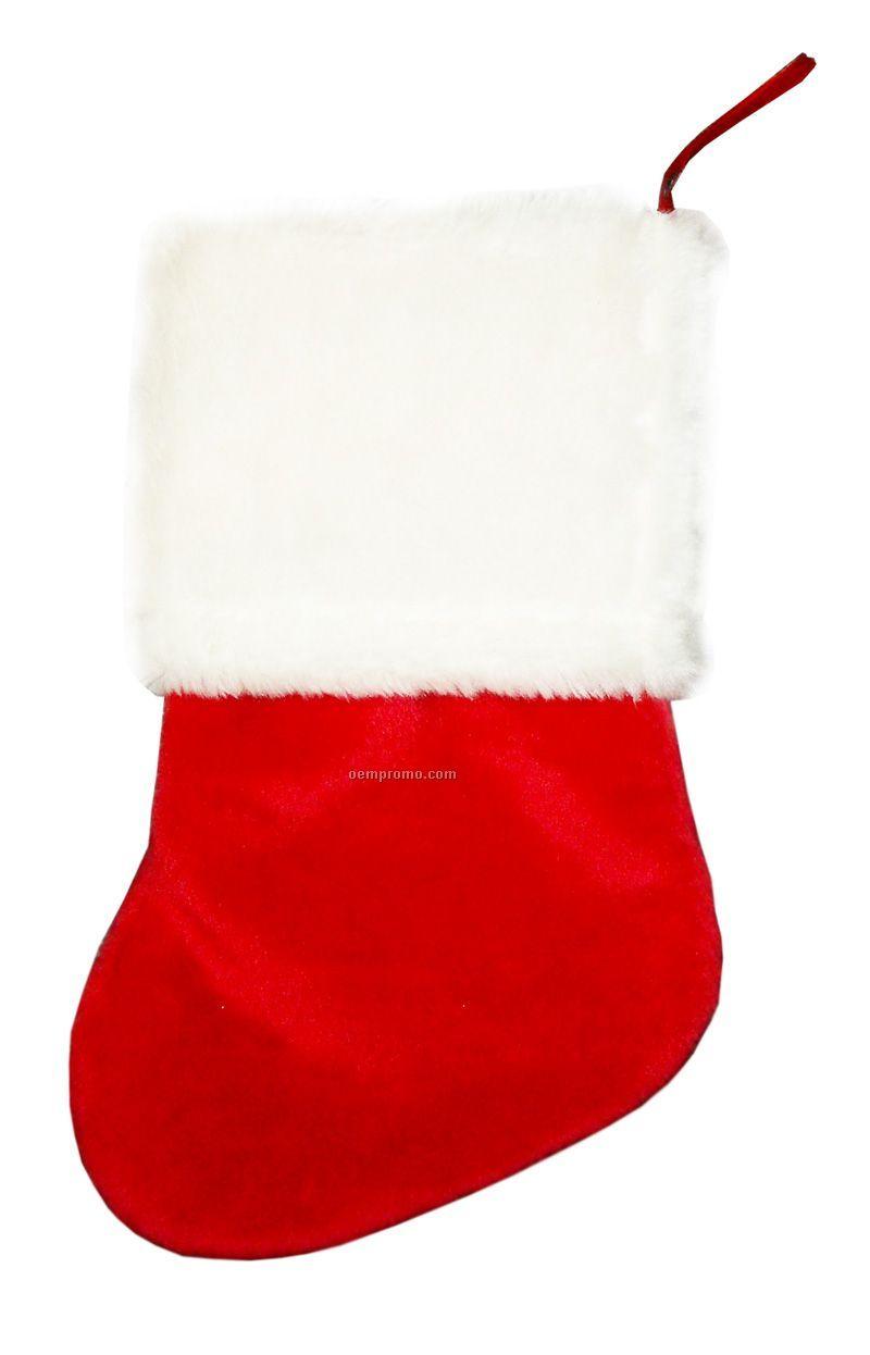 18 Inch Plush Christmas Stocking