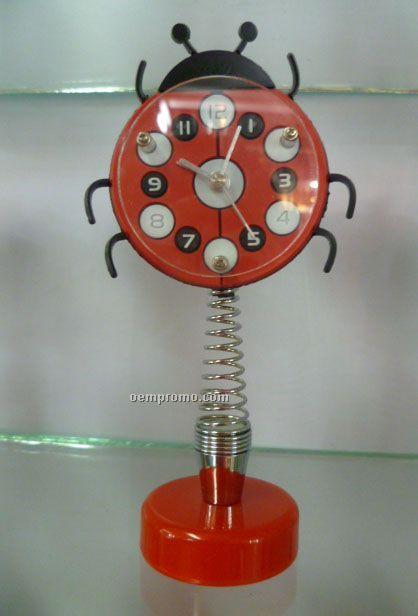 Lovely Ladybug Shape Clock