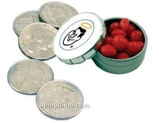 Mini Snap Top Tin W/ Cinnamon Flavored Mints (2 Day Service)