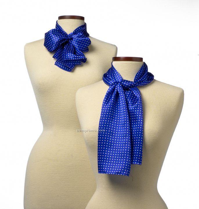 """Newport Silk Scarf - Royal Blue (8"""" X 45"""")"""