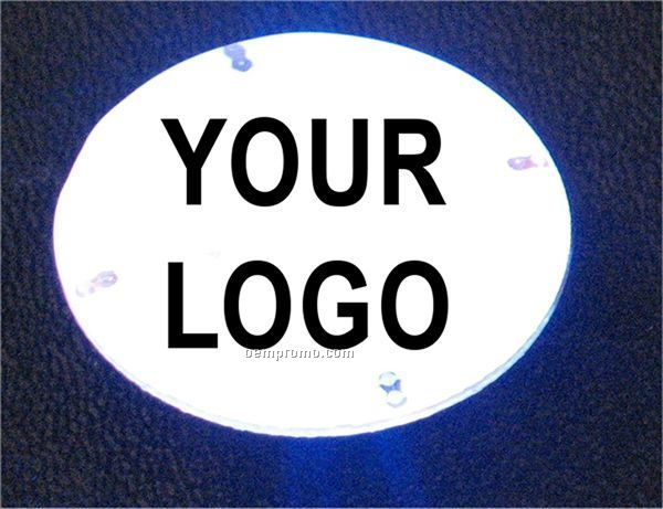 Round White Multi LED Light Up Button
