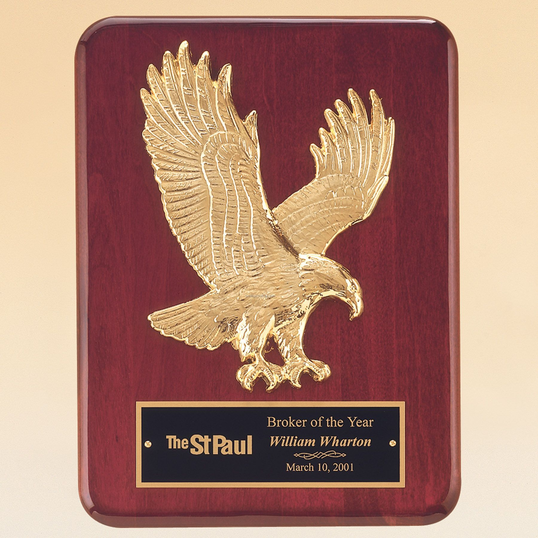 Sculpture Relief Eagle Casting Gold Tone Finish