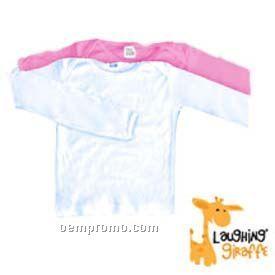 White Infant Long Sleeve Cotton Onesie