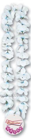 "36"" Silk 'n Petals Leis W/ Custom Paper Medallion (1 Flower Color)"