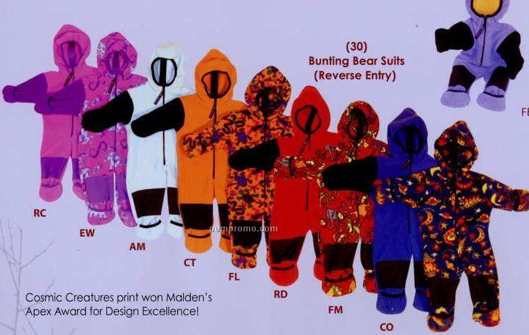 Aquamarine Infant Bunting Bear Suit (3-9m)