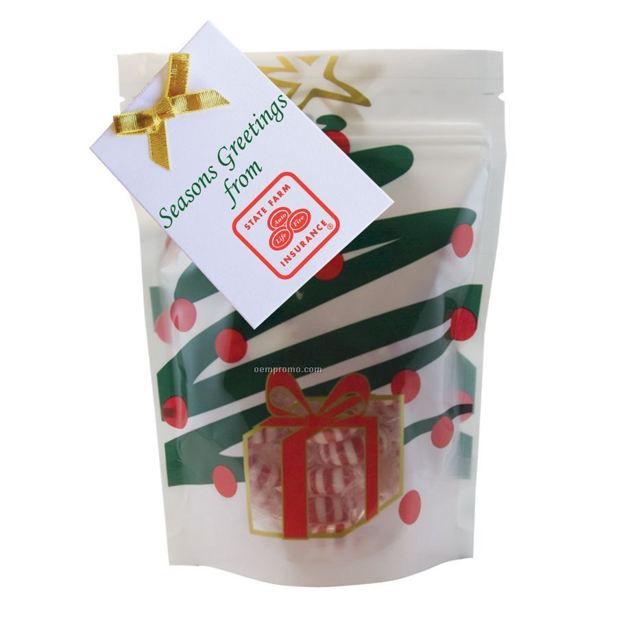 Holiday Tree Large Window Bag With Starlite Mints