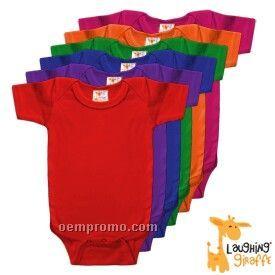 Infant Short Sleeve Cotton Onesie ( Bright Colors)