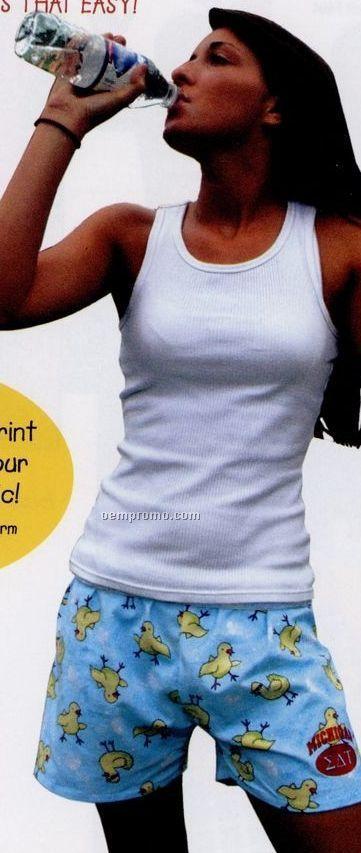 Adult Novelty Flannel Patchwork Pastel Boxer Shorts (2xl)