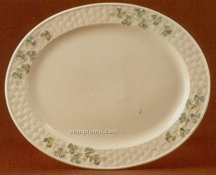 Belleek Collection Shamrock Oval Platter/Limited Edition - 850 Pieces