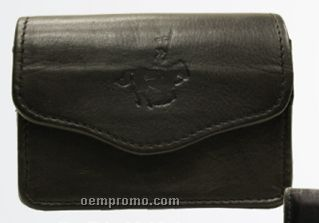 Medium Brown Cowhide Playing Cards Pouch