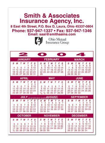 "One Year Calendar Magnet (4""X5.875"")"
