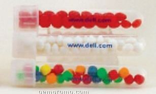 Plastic Test Tube Filled With Red Hots
