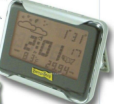 Radio Control Alarm Clock W/ Wireless Weather Station With Forecast