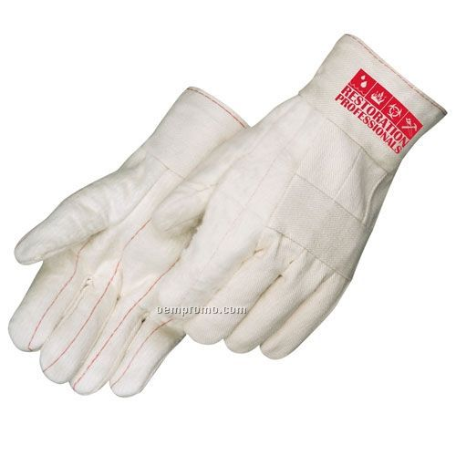 Standard Feature Hot Mill Canvas Gloves In Natural Beige (Large)