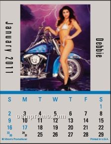 Super Size Biker Babes Press-n-stick Calendar (Thru 8/1/11)