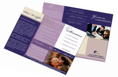 Tri-fold 6 Page Brochure W/ 100# Gloss Text