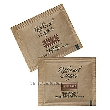 Sugar Packet Brown Raw Cane Sugar Packet 1 ColorChina Wholesale