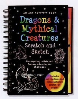 Scratch And Sketch Activity Book - Dragons And Mythical Creatures
