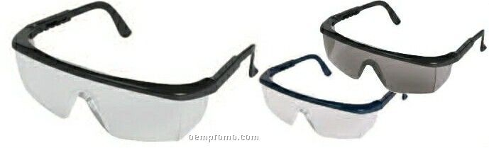 Sting-rays Black Frame Safety Glasses (Clear Lens)
