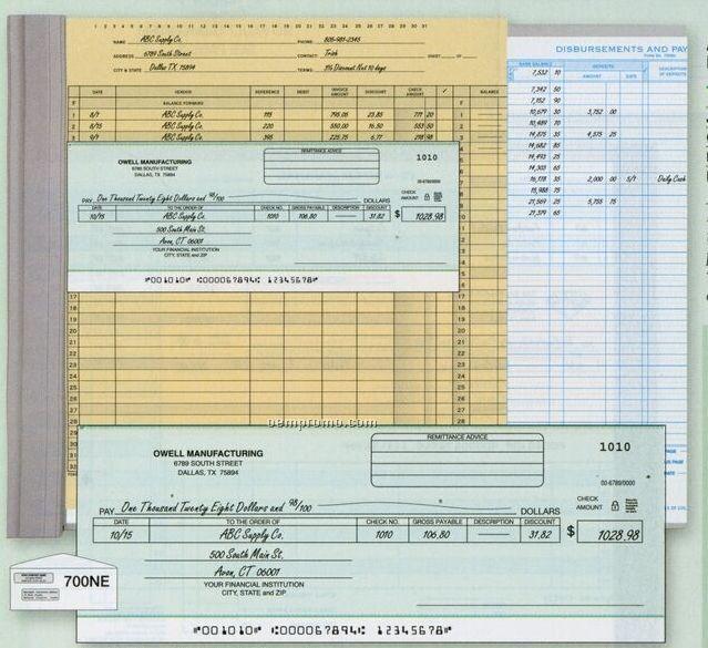 Accounts Payable Check (1 Part)